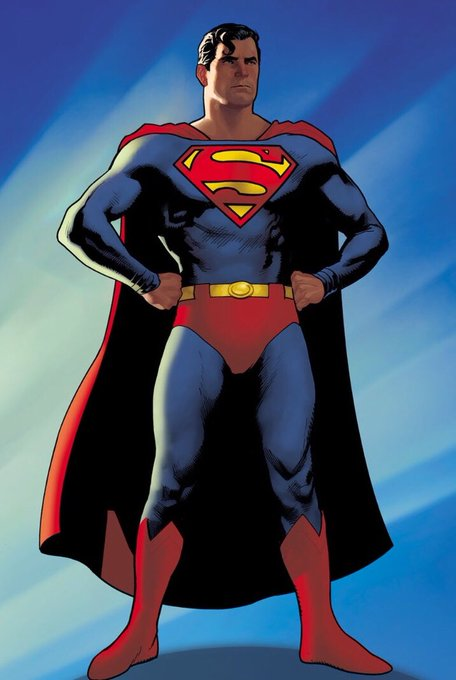 Superman, Drawn by Adam Hughes. Created by Jerry Siegel and Joseph Shuster.  DC Comics © 2019