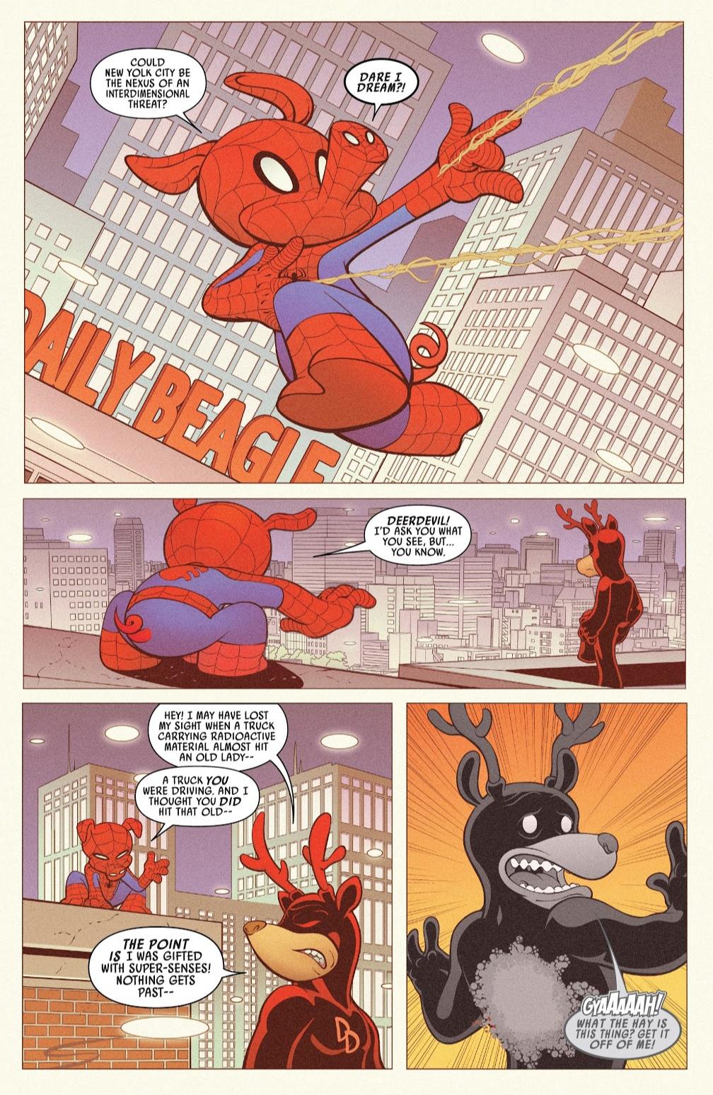 Spider-Ham and Deer-Devil