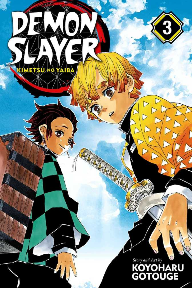 Demon Slayer Volume Three Cover