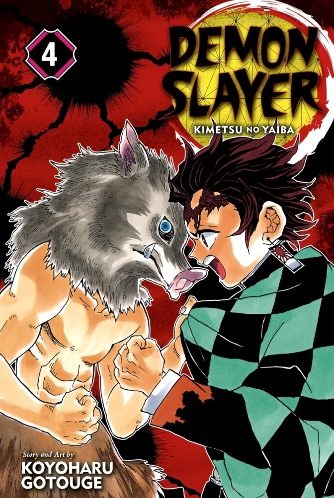Demon Slayer Volume Four Cover