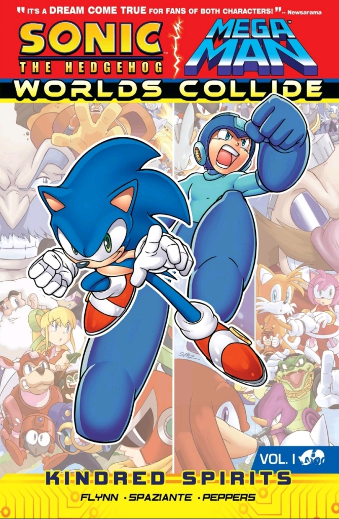 Sonic/Megaman Worlds Collide Part One, Volume One Cover