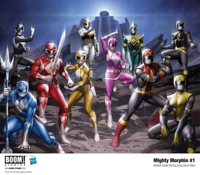 Boom! Studios Mighty Morphin #1 Jung-Geun Yoon Connecting Cover