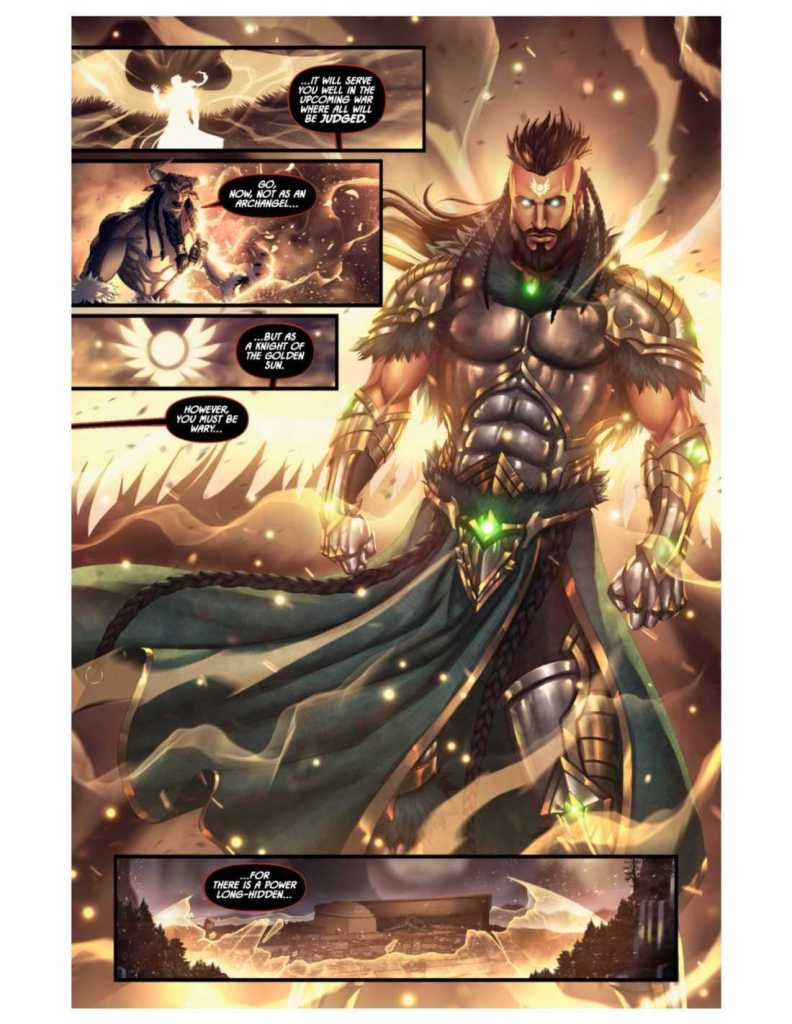 Knights of the Golden Sun Issue #8 Preview Page Four