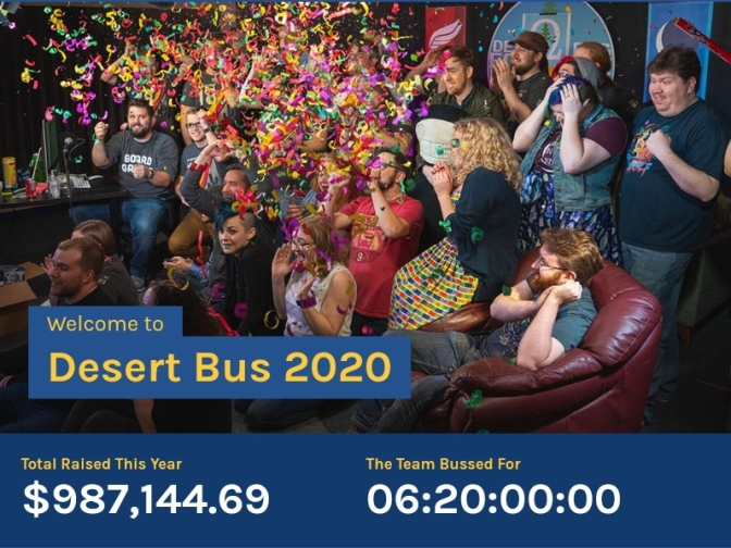 Desert Bus For Hope 2020