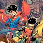 The Boys are back in town, Superboy and Robin return for the Challenge of the Super Sons in December