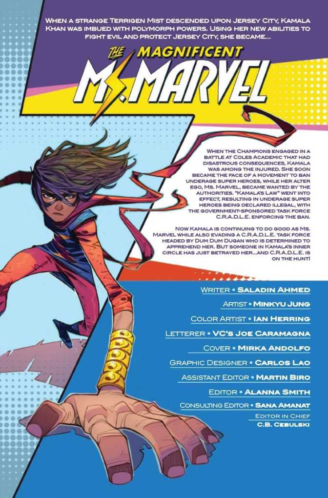 The Magnificent Ms. Marvel #17 Preview Page 1