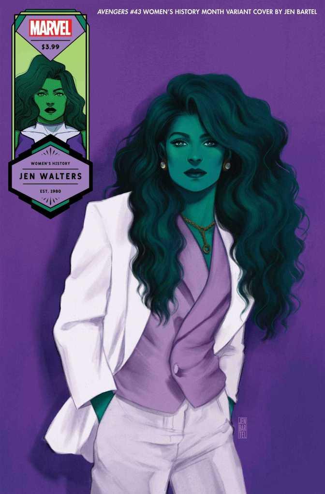 Avengers #43 She-Hulk, Women's History Month Variant Cover