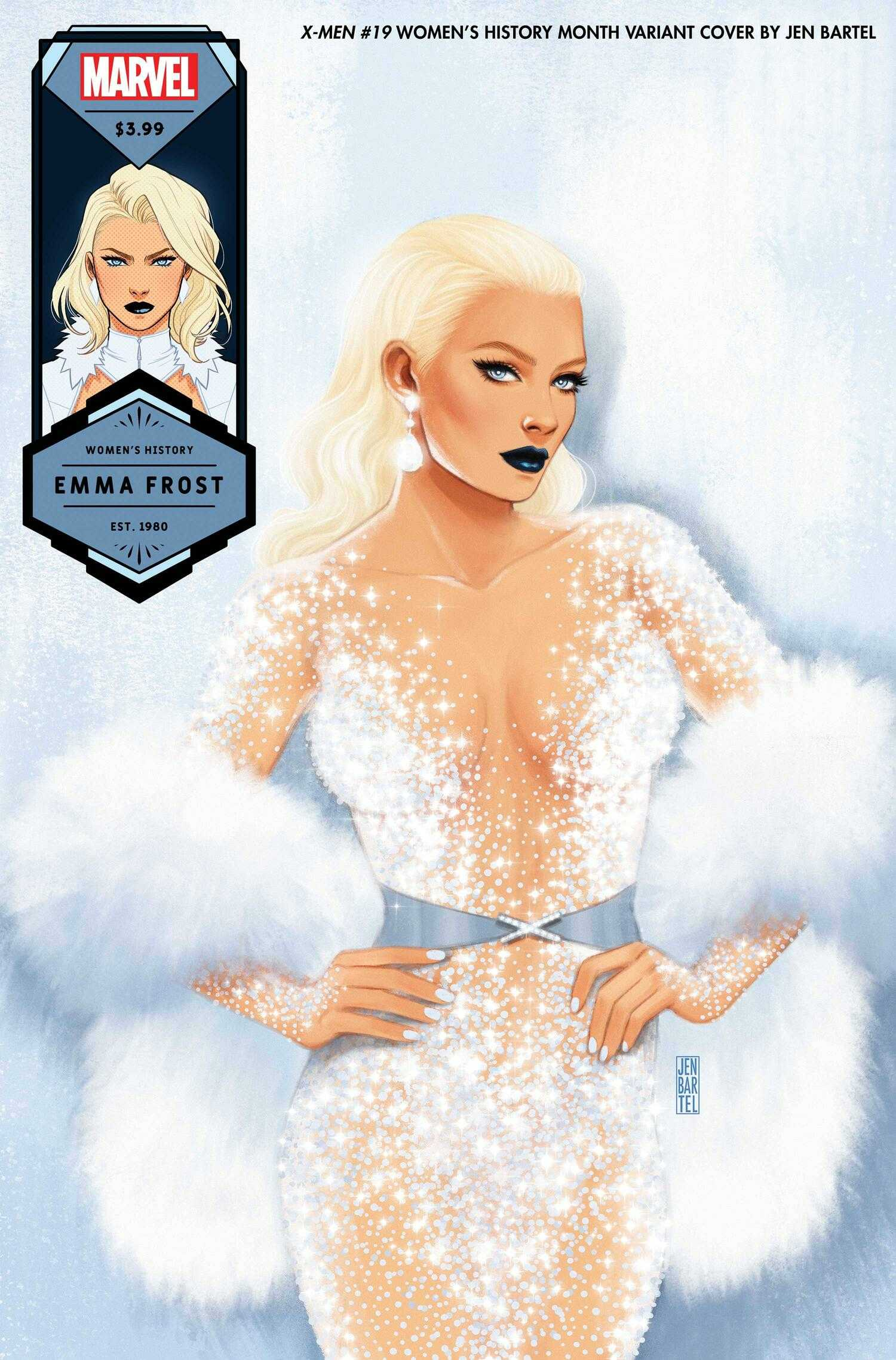 X-Men #19 Emma Frost, Women's History Month Variant Cover
