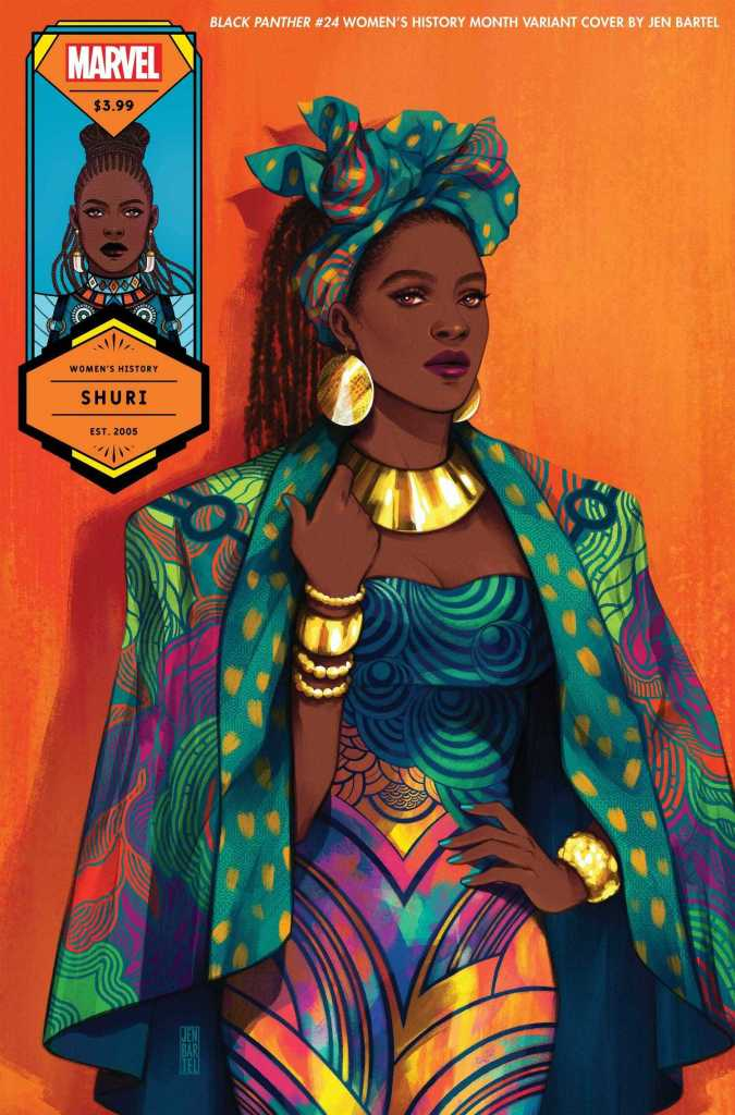 Black Panther #24 Shuri, Women's History Month Variant Cover