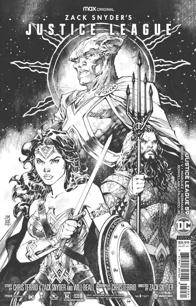 Zack Snyder Justice League Issue 59 Black and White Variant: Jim Lee