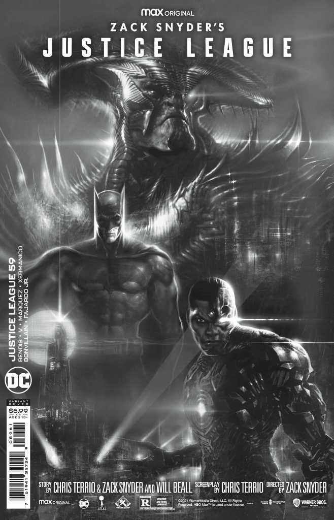 Zack Snyder Justice League Issue 59 Black and White Variant: Liam Sharp