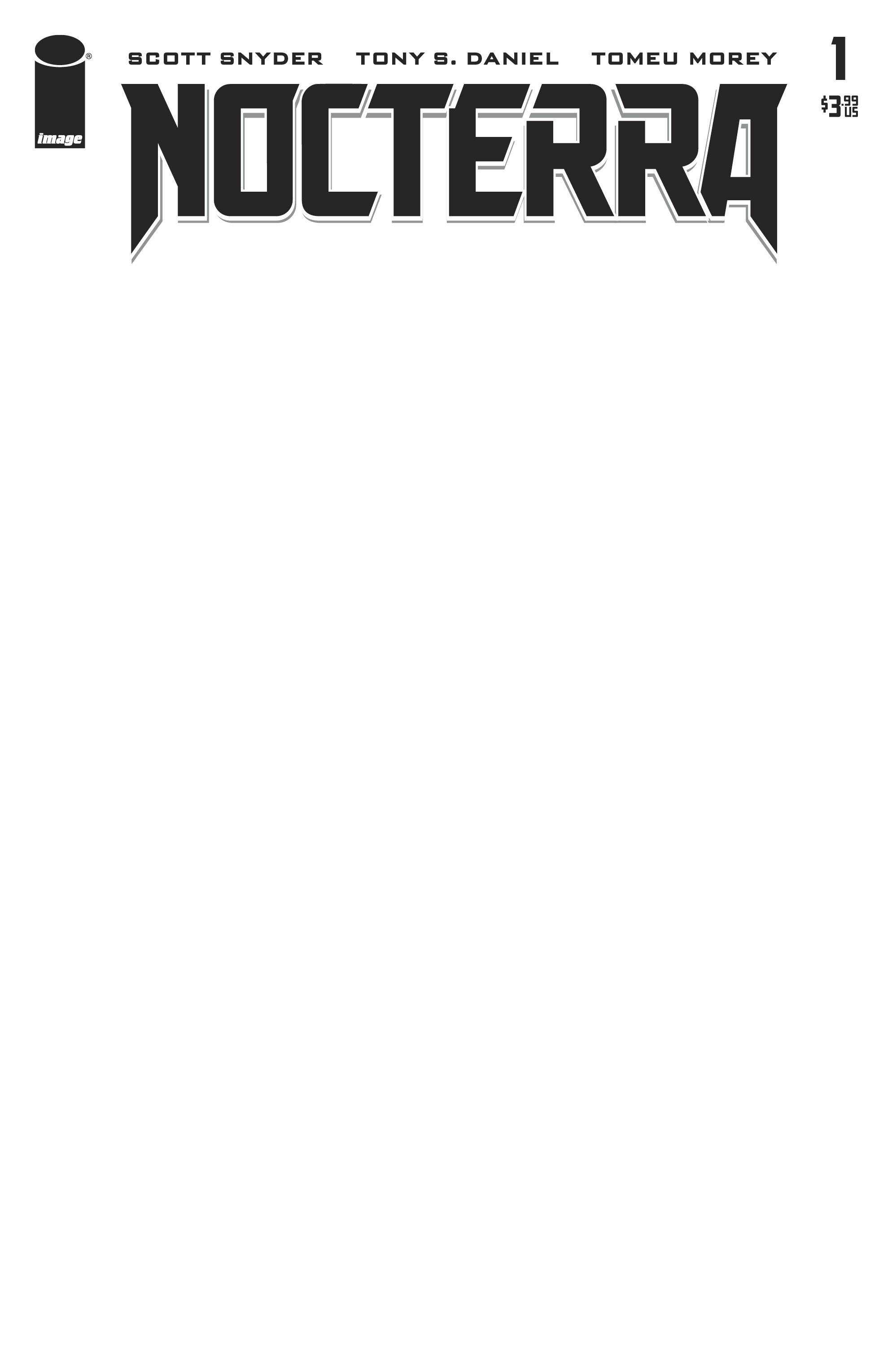 Nocterra #1 Blank Variant Cover