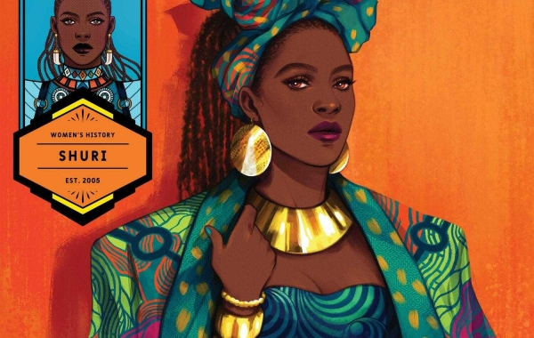 BLACK PANTHER #24 WOMEN'S HISTORY MONTH VARIANT COVER- Shuri
