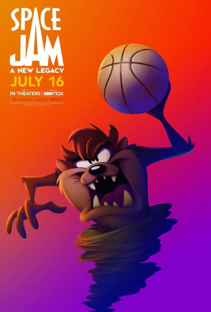 Space Jam: A New Legacy Character Poster- Taz