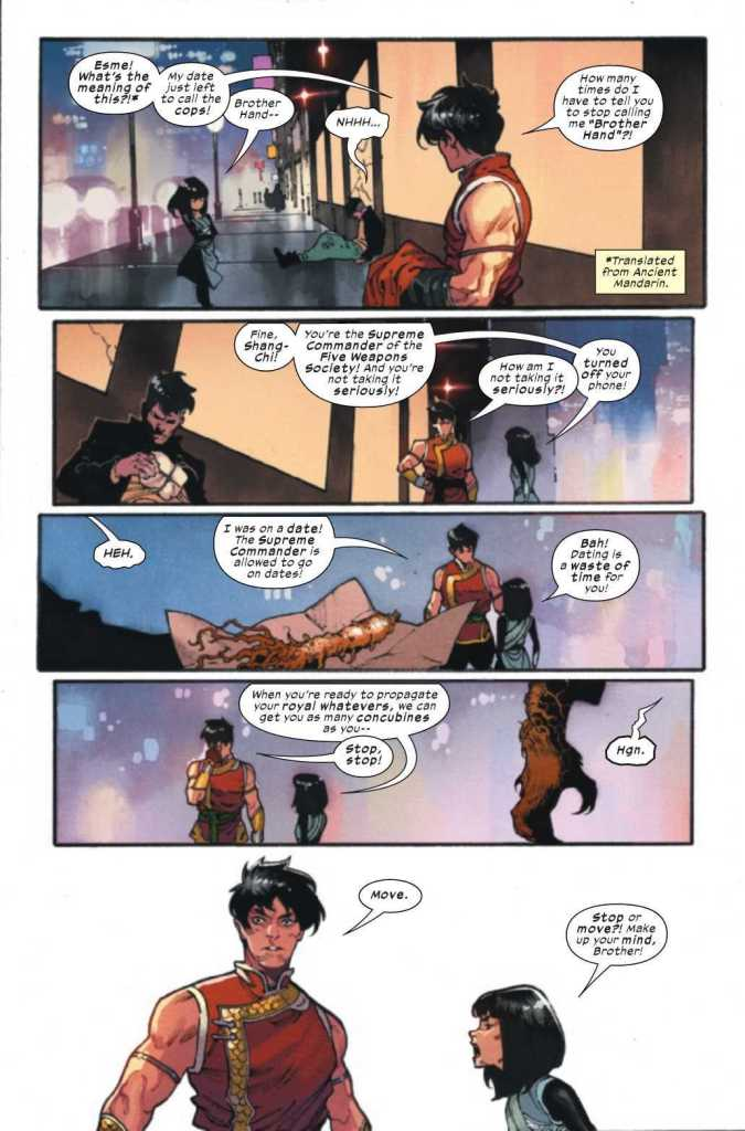 Shang-Chi Issue One Preview Page Two