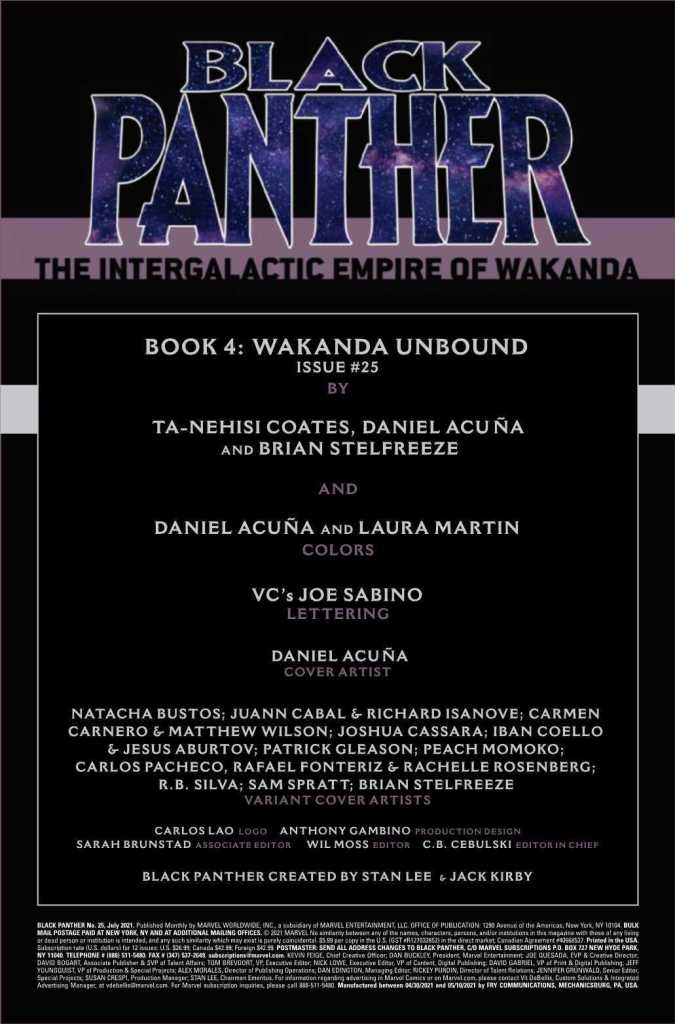 Black Panther Issue 25 Preview Page One