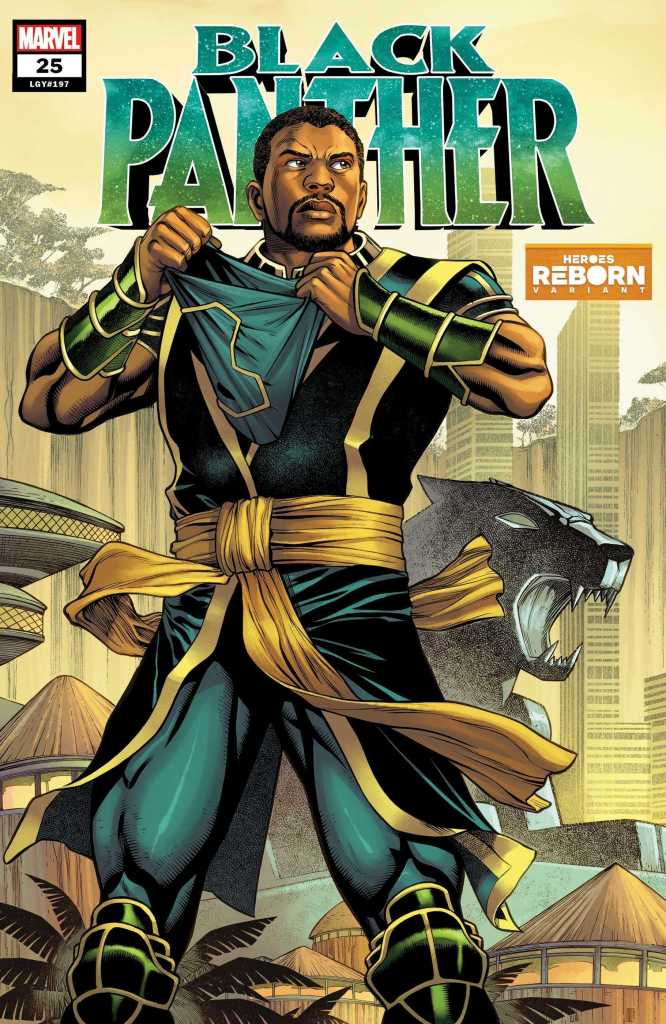 Black Panther Issue 25 Heroes Reborn Variant Cover: Brian Stelfreeze