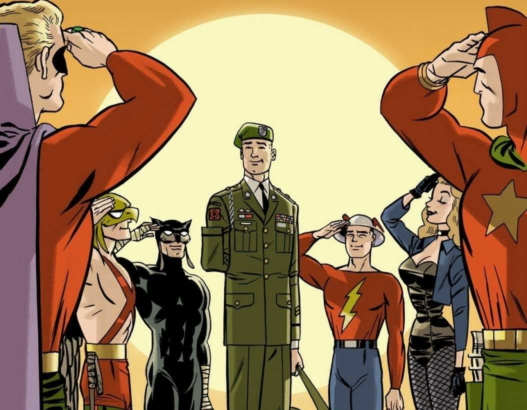 Justice Society Issue 50 Variant Teaser- Darwyn Cooke