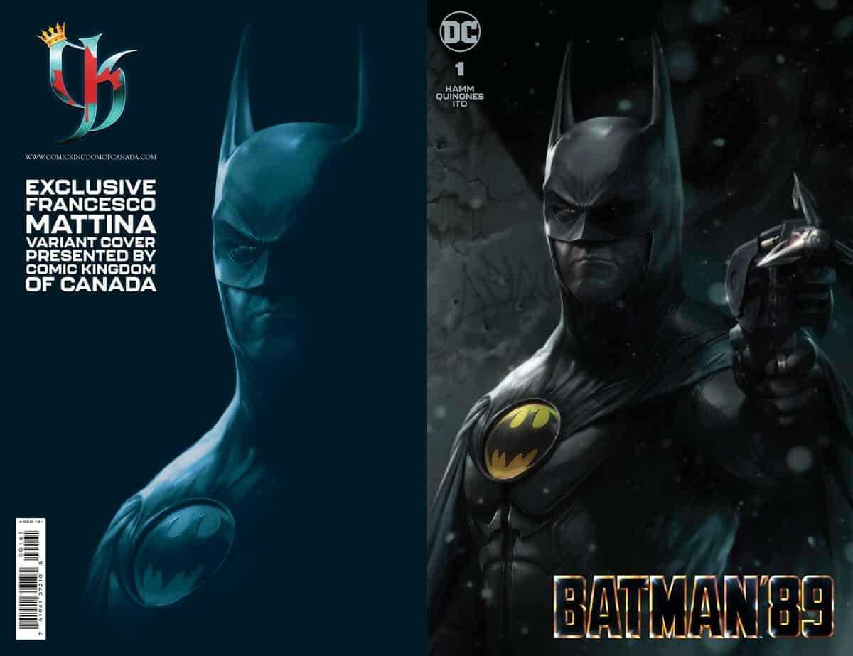 Batman '89 Issue One Team Variant Cover- Francesco Mattina, Comic Kingdom of Canada Edition