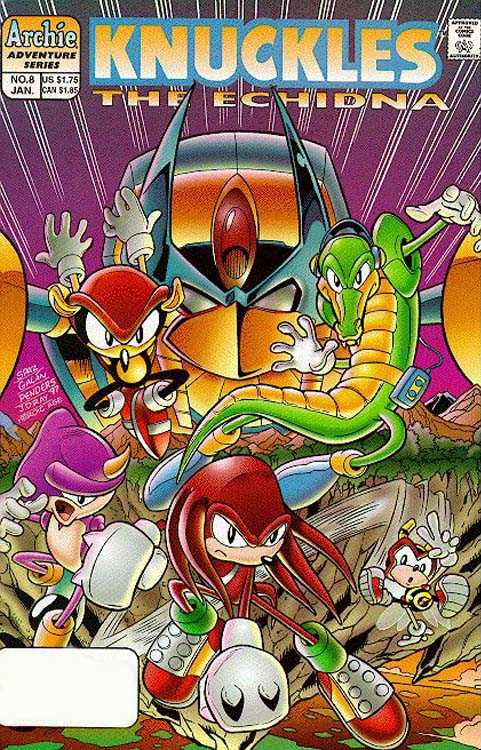 Knuckles the Echidna Issue 8 Cover